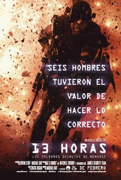 Cartel de 13 horas: Los soldados secretos de Bengasi (13 Hours: The Secret Soldiers of Benghazi)