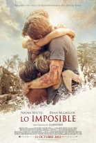 P�ster de Lo imposible (The Impossible)