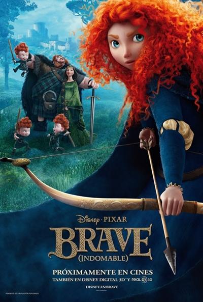 Cartel de Brave (Indomable) (Brave)