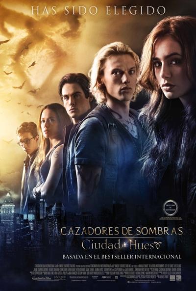 Cartel de Cazadores de sombras: Ciudad de Hueso (The Mortal Instruments: City of Bones)