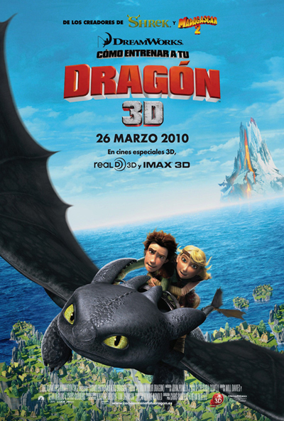 Cartel de Cómo entrenar a tu dragón (How to Train your Dragon)