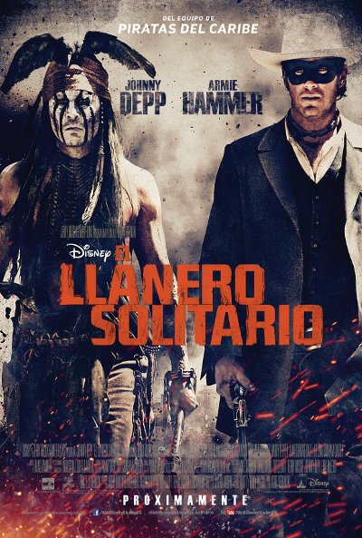 Cartel de El llanero solitario (The Lone Ranger)