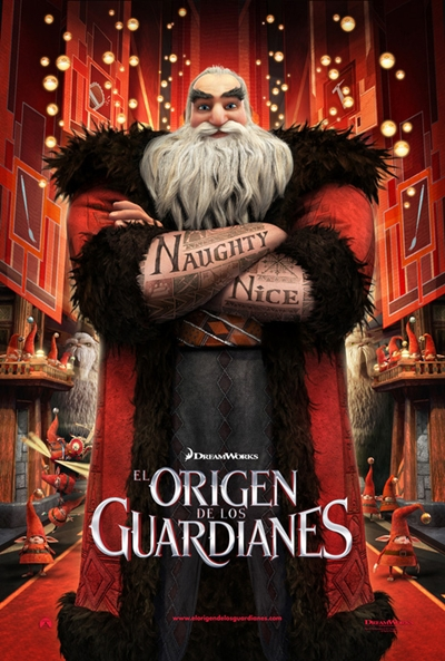 Cartel de El origen de los guardianes (Rise of the Guardians)