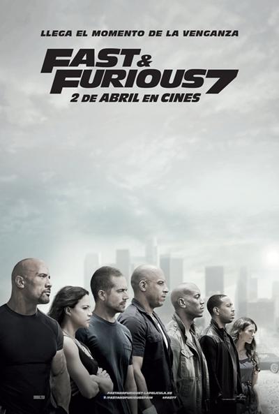 Cartel de Fast & Furious 7 (Furious 7)