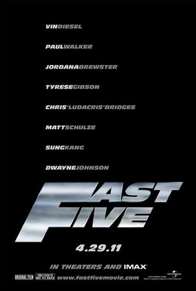 Téaser Póster de  (Fast Five (Fast & Furious 5))