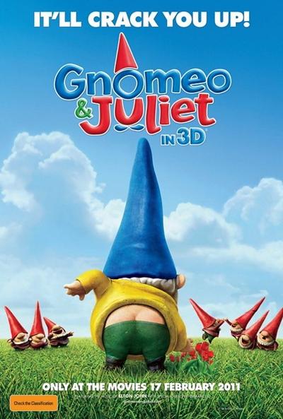 Cartel de Gnomeo y Julieta (Gnomeo & Juliet)
