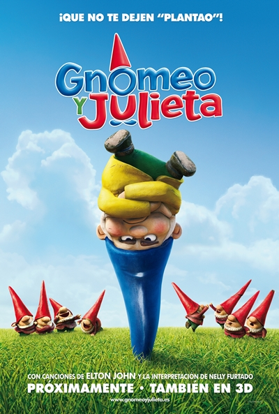 Cartel de Gnomeo y Julieta (Gnomeo & Juliet)