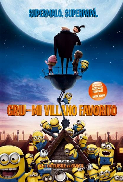 Cartel de Gru: Mi villano favorito (Despicable Me)