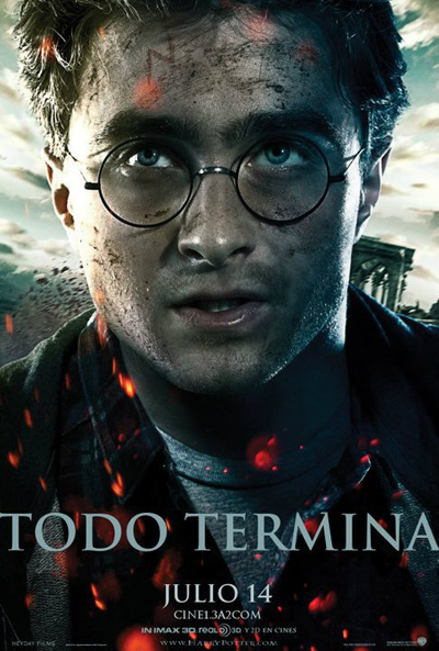 Cartel De Harry Potter Y Las Reliquias De La Muerte  Parte 2  Harry