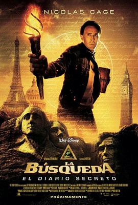 Cartel de La B�squeda: El Diario Secreto (National Treasure: The Book Of Secret)
