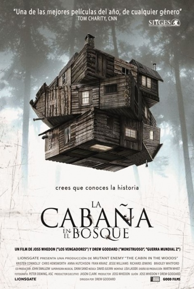 Cartel de La cabaña en el bosque (The Cabin in the Woods)