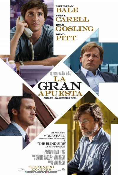 Cartel de La gran apuesta (The Big Short)