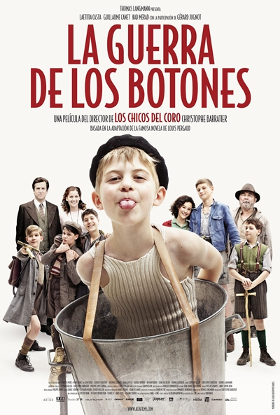 Cartel de La guerra de los botones (La Nouvelle Guerre des Boutons)
