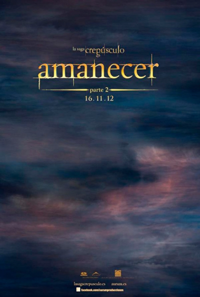Téaser Póster de La Saga Crepúsculo: Amanecer - Parte 2 (The Twilight Saga: Breaking Dawn - Part 2)