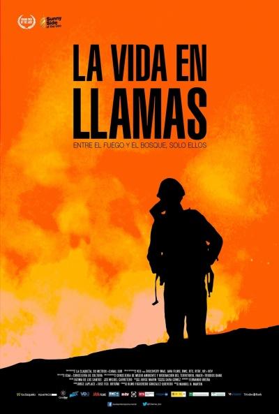 Cartel de La vida en llamas (La vida en llamas)