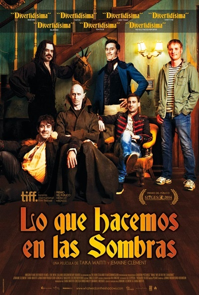 Cartel de Lo que hacemos en las sombras (What We Do in the Shadows)