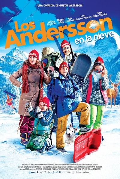Cartel de Los Andersson en la nieve (Sune i fjällen)