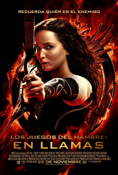 Cartel de Los juegos del hambre: En llamas (The Hunger Games: Catching Fire)