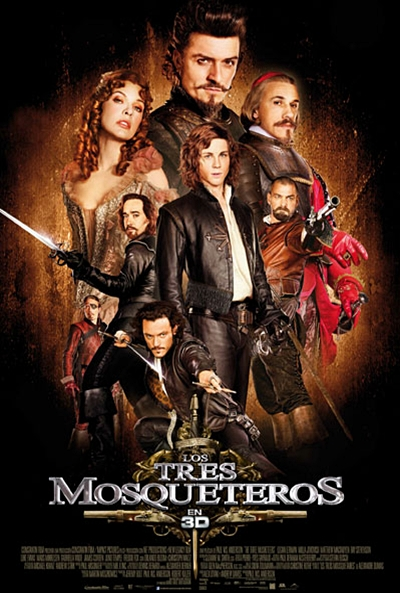 Cartel de Los tres mosqueteros (The Three Musketeers in 3D)