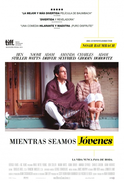 Cartel de Mientras seamos jóvenes (While We're Young)