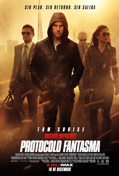 Cartel de Misión: Imposible. Protocolo Fantasma (Mission Impossible: Ghost Protocol)
