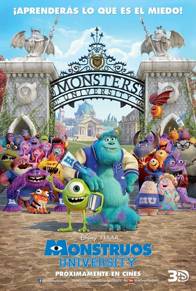 Cartel de Monstruos University (Monsters University)