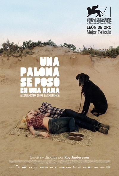 Cartel de Una paloma se posó en una rama a reflexionar sobre la existencia (En duva satt på en gren och funderade på tillvaron (A Pigeon Sat on a Branch Reflecting on Existence))