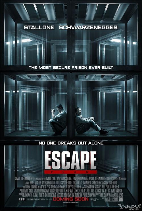 Plan de Escape -- Sly y Arnold juntos en prision 35982
