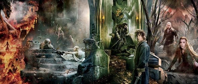 Banner masivo de 'El Hobbit: La Batalla de los Cinco Ej�rcitos'