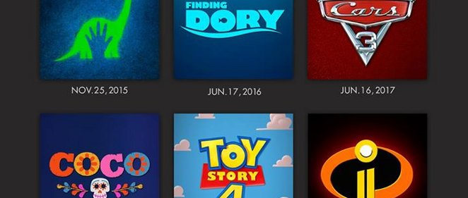 �Calendario Disney Pixar hasta 2019!