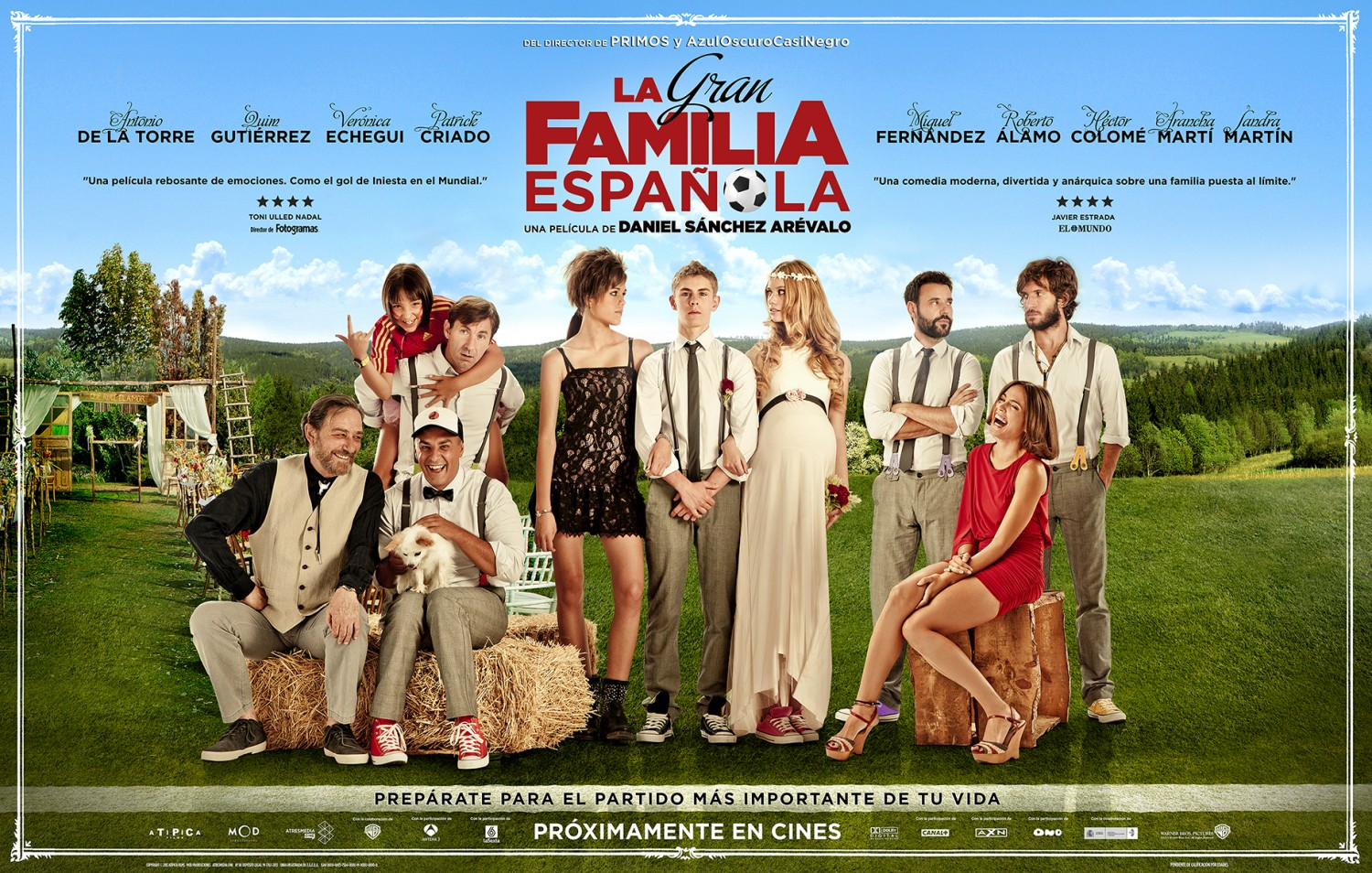 a review of la gran familia espanola a film by daniel sanchez arevalo The director daniel s nchez ar valo (azuloscurocasinegro, cousins ), he embarks on a new comedy that has as a backdrop the world cup in south africa and the setting is a wedding that takes precisely the day of the final this la gran familia espa ola.